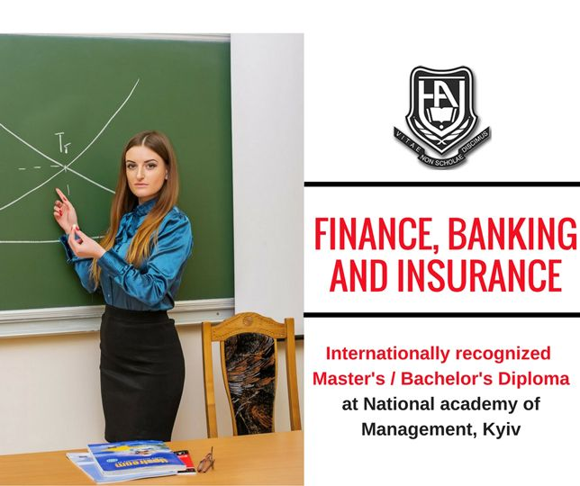 Bachelor's degree in finance, banking and insurance