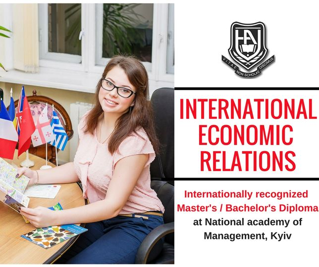Bachelor's degree in international economic relations